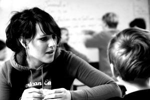 18-23 jaar - In gesprek zwart-wit